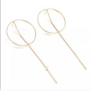 Jewelry - 🆕 MINIMALIST EARRINGS CIRCLE HOOP BAR DANGLE GOLD
